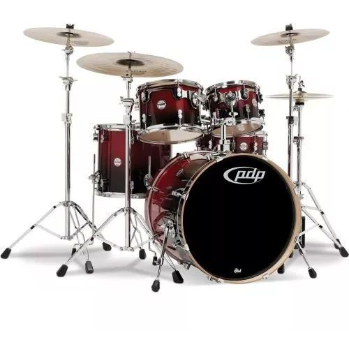 by dw shell set concept maple, red to black sparkle fade zestaw perkusyjny marki Pdp