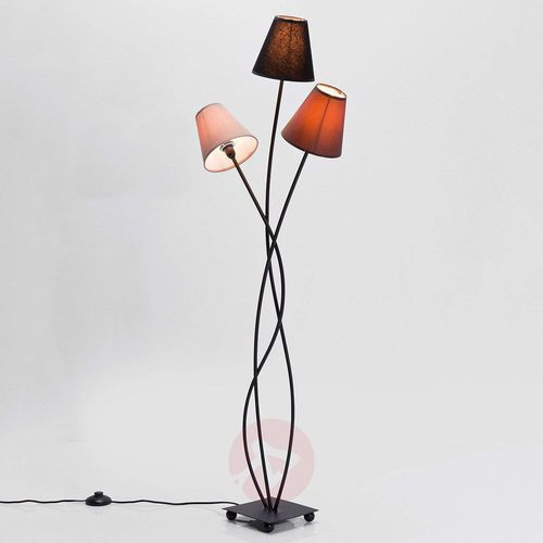 Kare 3-punktowa lampa stojąca flexible mocca tre (4025621361909)