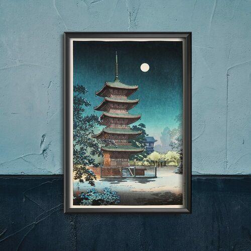 Plakat do pokoju plakat do pokoju asakusa kinryusan autorstwa tsuchiya koitsu marki Vintageposteria.pl