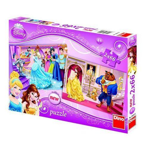 Puzzle princess 2x66 elementów marki Dino