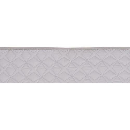 Ochraniacz 'połówka' do łóżeczka (210x30)  - szary pikowany marki Samiboo