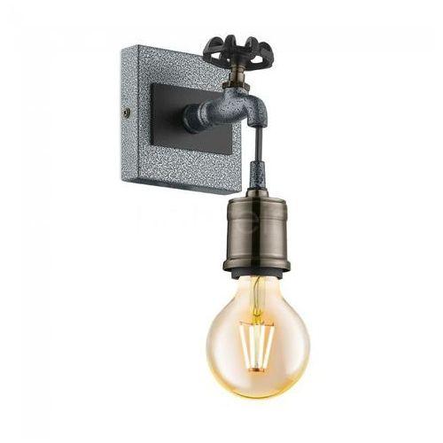 Eglo Kinkiet goldcliff 49101 lampa ścienna spot 1x60w e27 srebrny antyczny/czarny (9002759491017)
