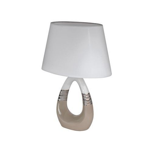 Lampka bellariva 1 97775 stołowa nocna 1x40w e14 beż/chrom/biały marki Eglo
