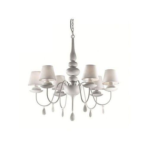 Lampa wisząca BLANCHE SP6 BIANCO, kolor Srebrny,