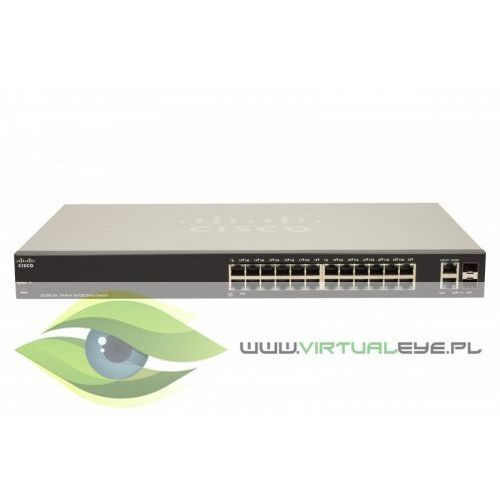 sf200-24 smart switch l2 24x10/100 2xcombo no fan rack 19'' marki Cisco
