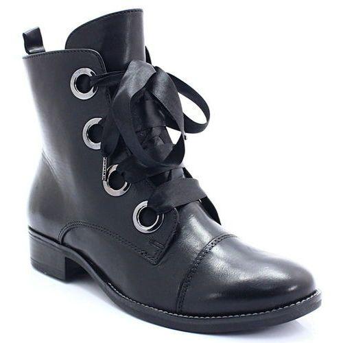 9-25105-21 czarne - ładne workery marki Caprice