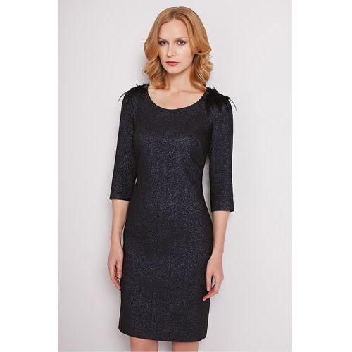 Brokatowa sukienka - Potis & Verso, kolor czarny