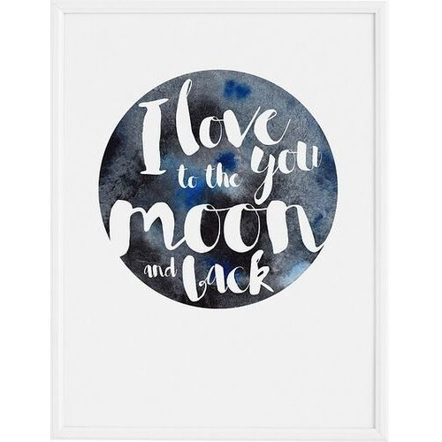 Plakat i love you to the moon 70 x 100 cm marki Follygraph