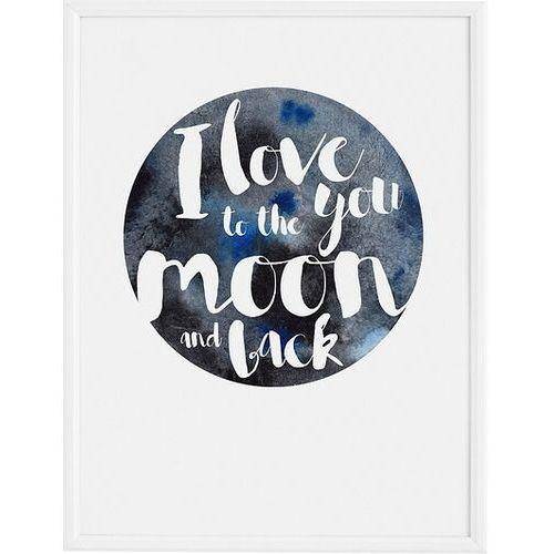 Plakat i love you to the moon 70 x 100 cm marki Follygraph