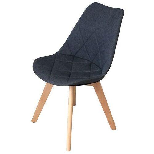 Krzesło tapicerowane Karo Wood dark grey, QS-D630-14-3