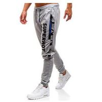 Spodnie męskie dresowe joggery szare Denley KK539