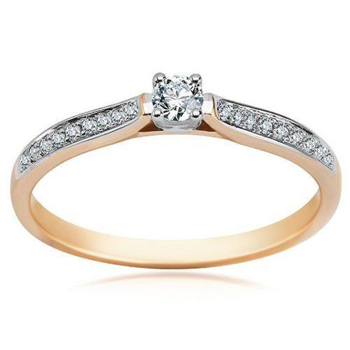 Staviori Złoty pierścionek pxd4707 - diament
