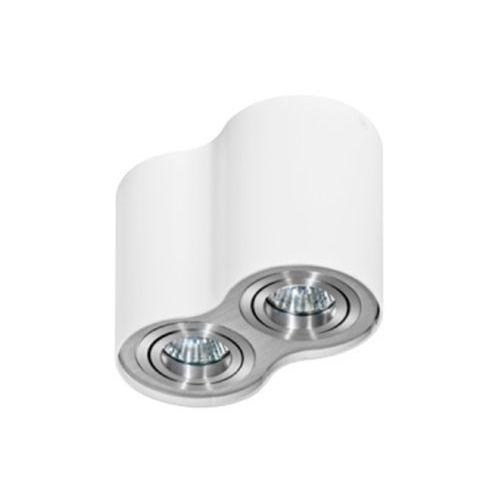Spot LAMPA sufitowa BROSS 2 GM4200 WH/ALU Azzardo natynkowa OPRAWA metalowa aluminium biała