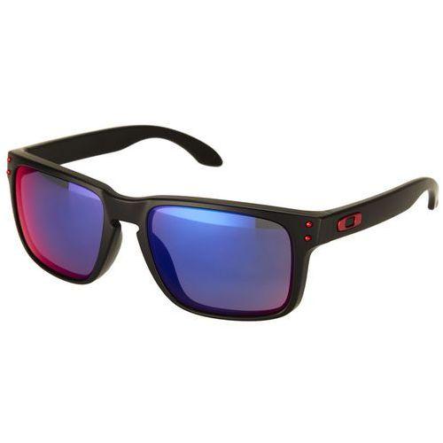 Oakley holbrook okulary przeciwsłoneczne matte black/positive red iridium