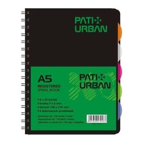 Kołozeszyt Patio Urban 13833 A5/120k. kratka