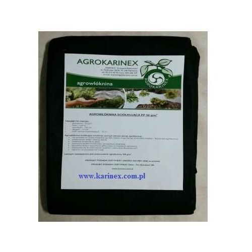 Agrowółknina ściółkujaca PP 50 g/m2 czarna 1,1 x 10 mb. Paczka o wadze 0,9 kg., PP 50/110/10/CZ paczka