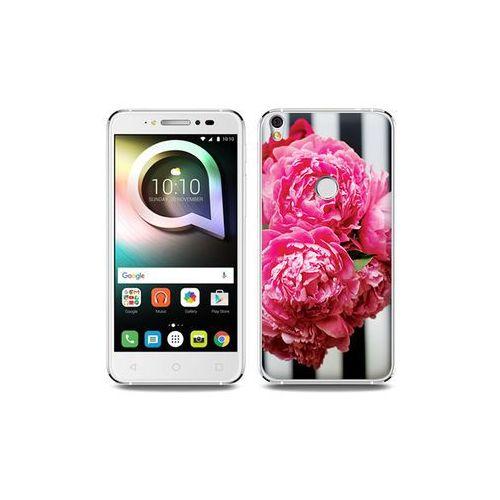 Alcatel Shine Lite - etui na telefon Foto Case - różowe kwiaty