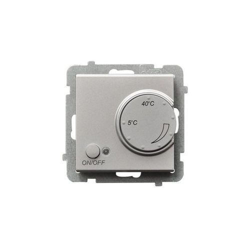 Regulator temperatury z czujnikiem napowietrznym srebro mat RTP-1RN/m/38 SONATA (5907577461218)