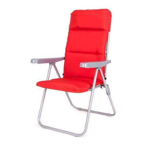 Happy Green krzesło ogrodowe składane LOARA 68 × 58 × 107 cm, czerwone (8591022461433)