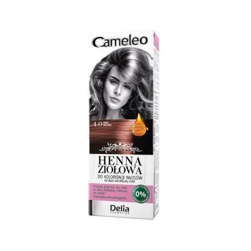 DELIA COSMETICS Cameleo 4.0 Brąz Henna ziołowa do koloryzacji włosów, kolor brąz