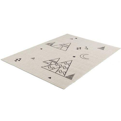 Vente-unique Dywan tipi - polipropylen - 120 × 170 cm - ecru i czarny