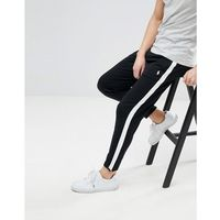 Polo Ralph Lauren Slim Fit Zip Hem Jogger Side Band in Black/White - Black