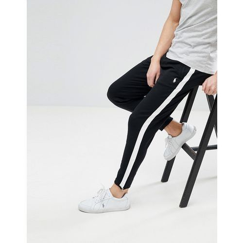 slim fit zip hem jogger side band in black/white - black marki Polo ralph lauren