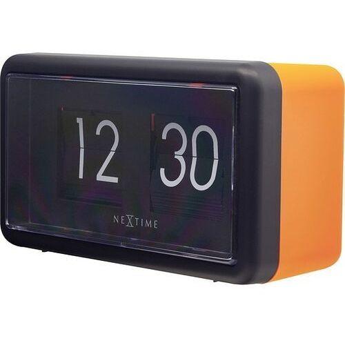 Zegar ścienny lub stołowy small flip pomarańczowy, kolor pomarańczowy