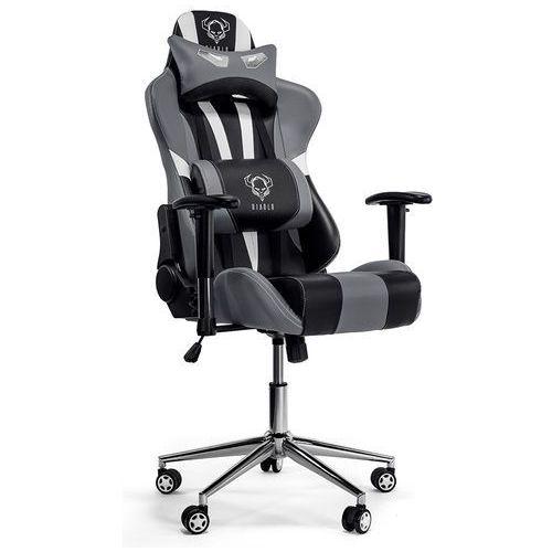 Fotel DIABLO CHAIRS X-Eye Czarno-biało-szary + Zamów z DOSTAWĄ JUTRO! (5902560332438)