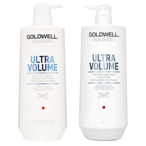 Goldwell ultra volume   zestaw nadający objętość: szampon 1000ml + odżywka 1000ml