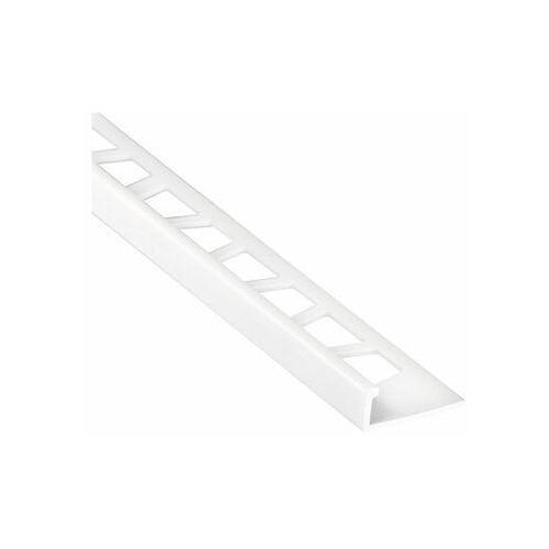 Profil do glazury PVC ozdobny 8 mm / 2.5 m Biały zimny Cezar