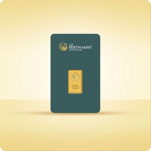 10 g sztabka złota certicard - 15dni marki Perth mint, pamp suisse