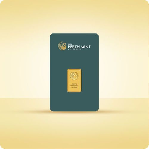 Perth mint, pamp suisse 10 g sztabka złota certicard - 15dni