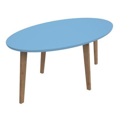 Stolik norman owalny z niebieskim blatem marki Intesi