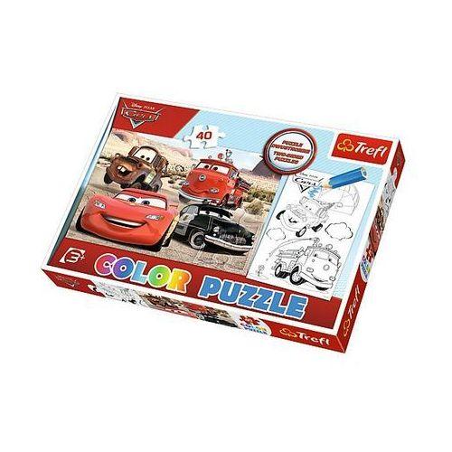 Puzzle Color 40 elementów. Autka na pustyni, 5900511365146 (5837005)