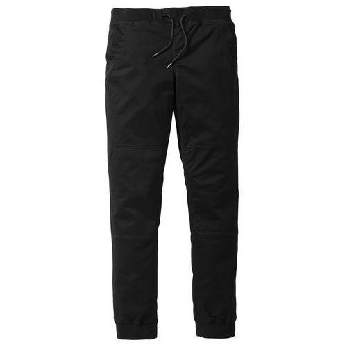 Spodnie z gumką w talii ze stretchem Slim Fit bonprix czarny, slim