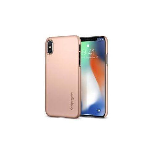 Obudowa dla telefonów komórkowych thin fit apple iphone x (houapipxsprg) różowy /złoty marki Spigen