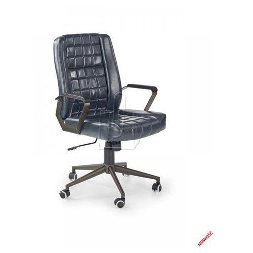Fotel gabinetowy Halmar Windsor granatowy – Dostawa GRATIS 24H