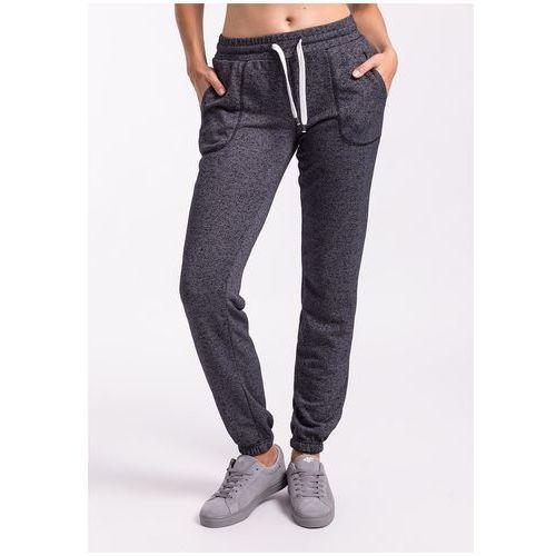 Spodnie dresowe damskie SPDD002Z - granatowy melanż, dresowe