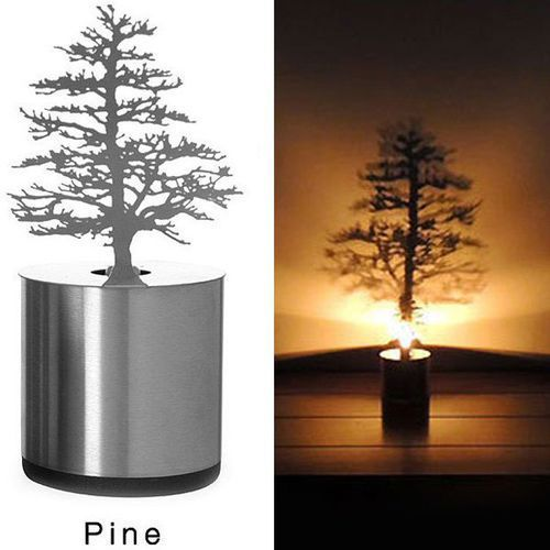 Creative Pine Shadow Projection LED Lamp Romantic Atmosphere Candle Decor Light ()