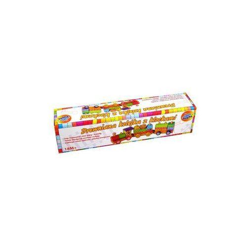 Drewniana kolejka z klockami Playme (5907791562340)