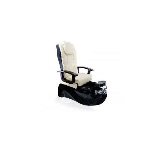 Fotel pedicure spa ts1204 ecru/black z funkcją masażu marki Vanity_a