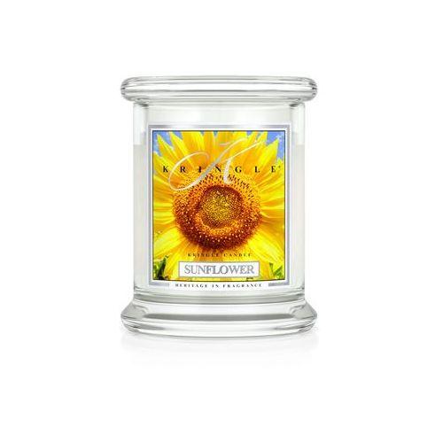 Kringle candle Sunflower świeca zapachowa słonecznik, średni słoik 14,5oz, 411g, 2 knoty