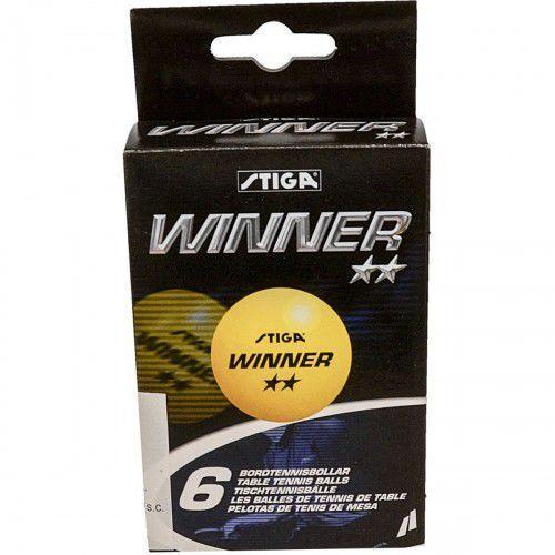 Piłeczki do tenisa stołowego winner żółte 6 sztuk marki Stiga