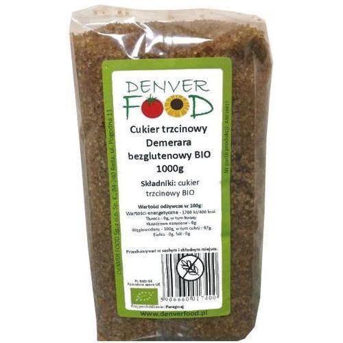 Cukier trzcinowy brązowy demerara bezglutenowy 1kg -  eko marki Denver food