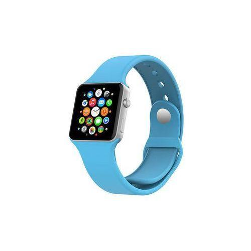 NIEBIESKI Sportowy silikonowy pasek do Apple Watch 38mm - Niebieski, kolor niebieski