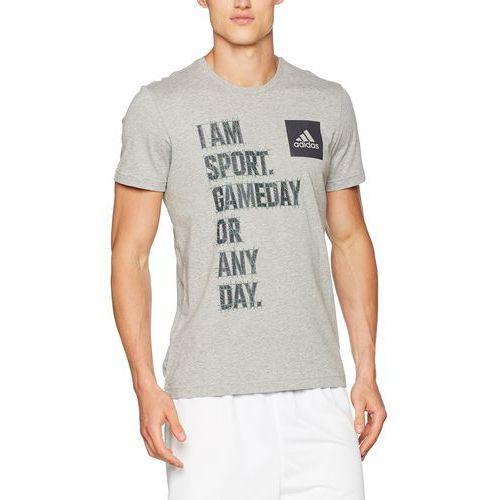 męski i am sport shirt, szary, l marki Adidas
