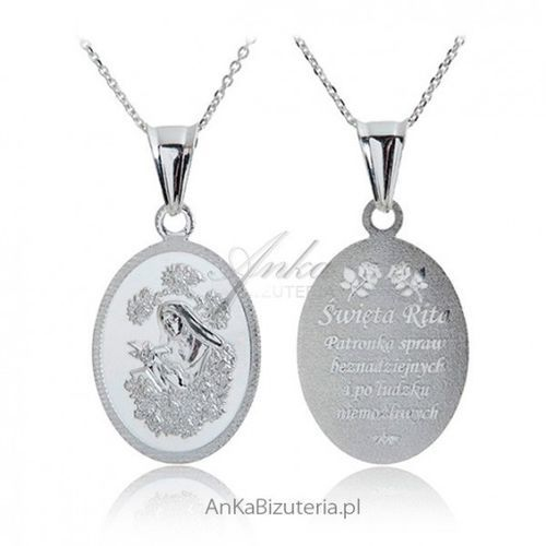 Anka biżuteria Ankabizuteria.pl medalik srebrny św. rita patronka spraw beznadziejnych - OKAZJE