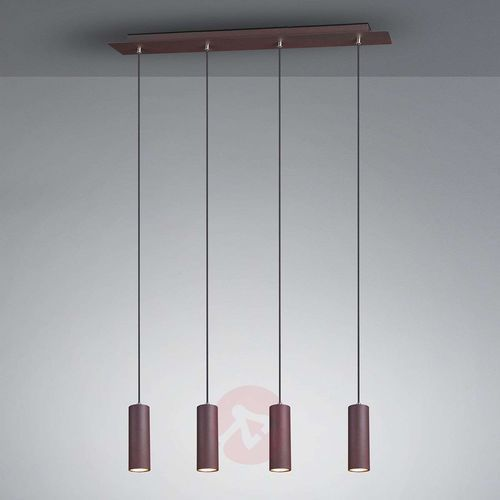 Trio leuchten marley lampa wisząca rudy, 4-punktowe - nowoczesny - obszar wewnętrzny - marley - czas dostawy: od 3-6 dni roboczych (4017807408782)