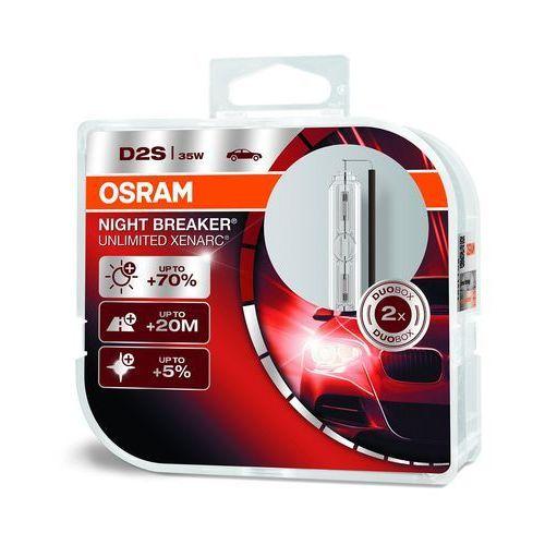 Osram Xenarc Original D2S HID Xenon nagrywarka, lampa wyładowcza, Night Breaker Unlimited, twarda osłona – podwójne opakowanie, biały (4052899047105)